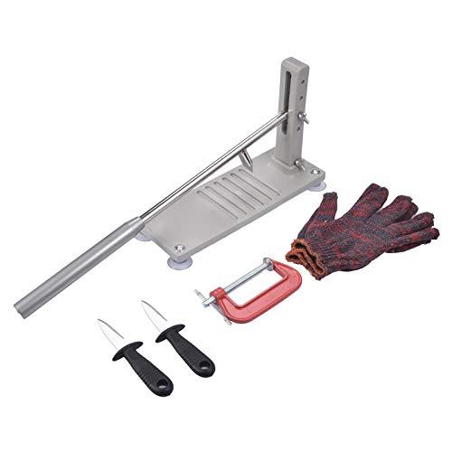 A-A Juego de cuchillo para ostras 4 en 1, abreostras con guantes resistentes a los cortes, herramienta abridor de ostras (cocina, jardinería, bricolaje)