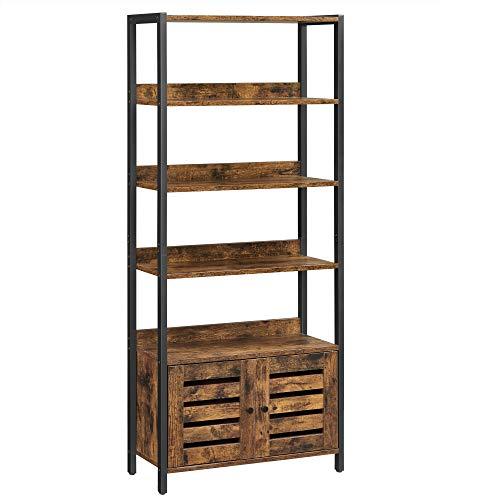 VASAGLE Estantería con Armario, Librería, Estantería almacenaje, Industrial, para Salón,...