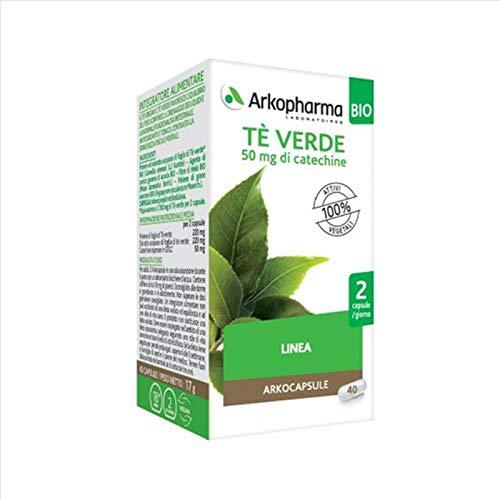 Arkopharma Arkocapsule - Tè Verde BIO Integratore Alimentare, 40 Capsule
