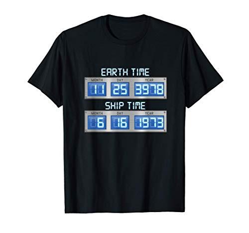 Dilatación del tiempo de la nave de tiempo de la Tierra Cron Camiseta