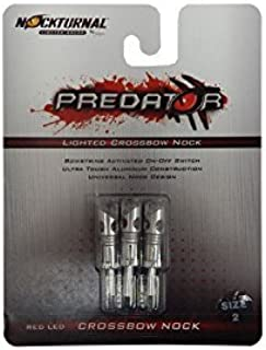 Nockturnal Predator Crossbow Lighted Archery Arrow Nocks - 3 Pack