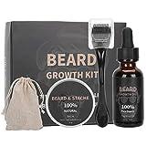 Kit de crecimiento de barba para hombres de 3 piezas, aceite de bigote nutritivo para aumentar la humedad, juego de cuidado del cabello para hombre