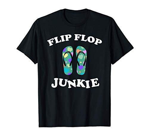 Flip Flop Beach Gym Junkie Summer Camping Vacation Gift Tシャツ