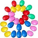 Percusión Plástico Huevo Musical Maracas Para Materiales De Fiesta De Niños Juguetes Musicales 30Pcs (Color Al Azar)
