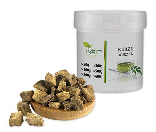 VITAIDEAL VEGAN® Kudzu Wurzel geschnitten (Pueraria lobata) 100g, rein natürlich ohne Zusatzstoffe.