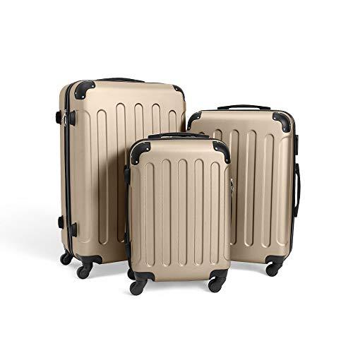 Todeco - Juego de Maletas, Equipajes de Viaje - Material: Plástico ABS...