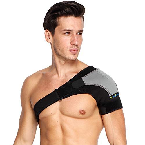 Suppor d'épaule pour Femmes et Hommes - Réglable Épaulière Néoprène avec coussinet à pression pour brassard rotatif, soulagement de la douleur aux épaules, déchirure labrum, bursite