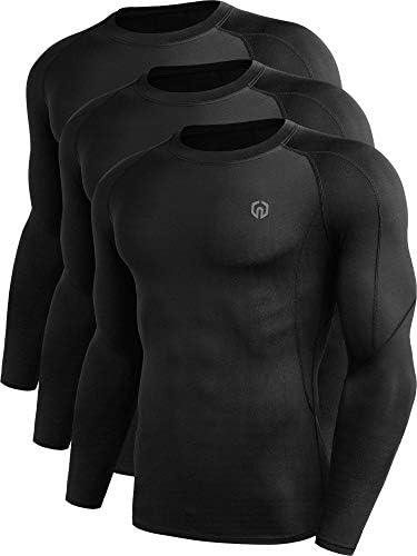 Neleus Men s 3 Pack Compression Workout Long Sleeve Shirts 5030 Black US M EU L product image