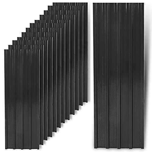 ESTEXO Trapezblech Profilblech Metallblech 12 Stück Dachblech Stahlblech Anthrazit