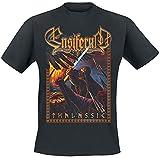 Ensiferum Thalassic Hombre Camiseta Negro L, 100% algodón, Regular