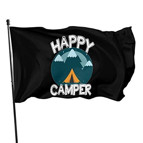 Jopath Happy Camping Zelt Camper 3x5 Fuß Flagge im Freien Dekorationen Garten Bauernhaus Hof Zeichen Banner im Freien Polyester Flagge