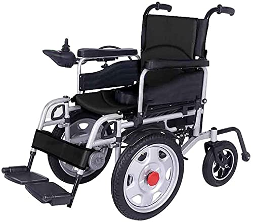 MENG Electric Wheelchair Folding Light and Strong Double Electric Portable Electric Wheelchair Four-Wheeled Scooter for the Elderly and the Disabled,Negro