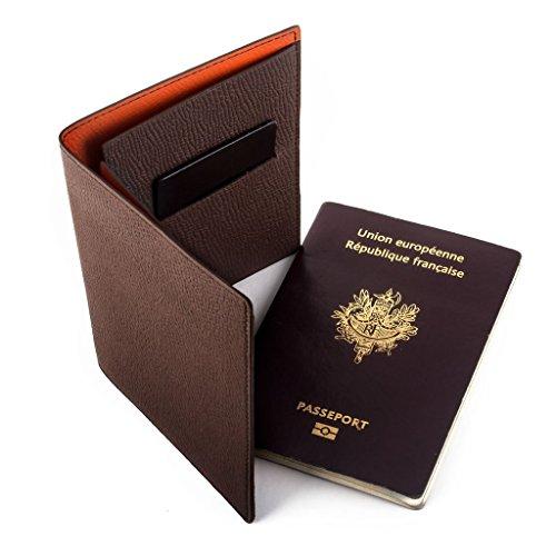 abp concept magellan Cartera para pasaporte marrón marrón
