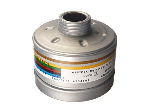 Dräger Kombinationsfilter A1B2E2K1HgNOP3RD/CO20P3RD mit DIN/EN Gewinde