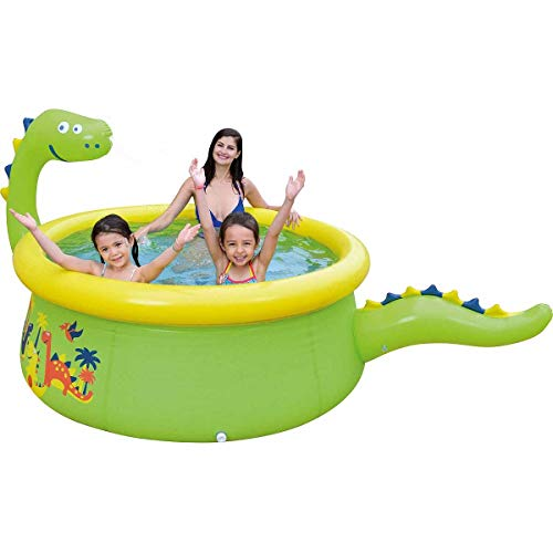 Jilong 3D Spary Pool - Piscina Hinchable con Forma de Dinosaurio, Color Verde, 17786