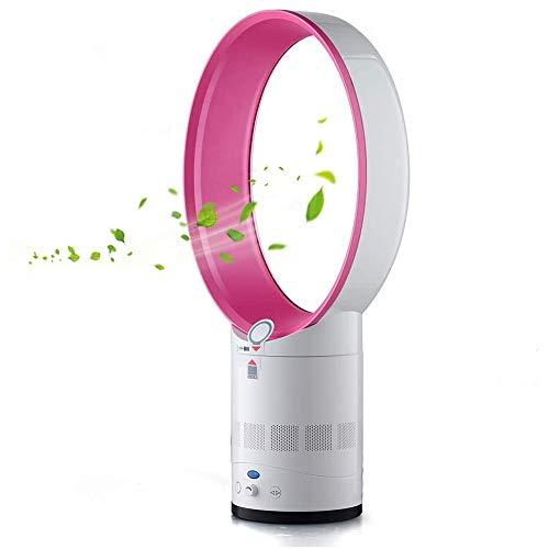 ZLZNX Blattloser Ventilator, Tragbar Luftkühler, Leise Leafless Klimaanlage, Fernbedienung Turmventilator für Home, Büro, Schlafzimmer,Rosa