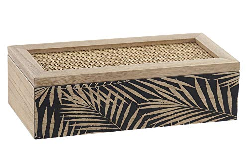 Space Home - Caja para Bolsitas de Te - Caja para Infusiones - Almacenaje de Cocina - 3 Compartimentos - 24 x 10 x 7 cm