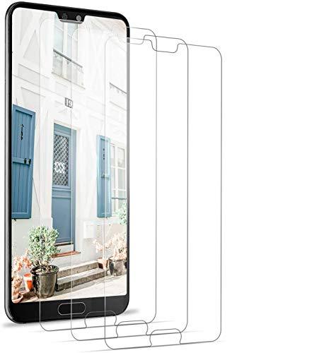 BOBI Verre Trempé Huawei P20 Pro, Film Protection Ecran Vitre HD,Sans Bulles, 3D-Touch, Incassable pour Huawei P20 Pro [3 Pièces]