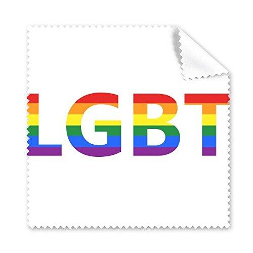 Arco iris Gay lésbico LGBT transgénero bisexuals apoyo lema ilustración gafas paño de limpieza paño móvil limpiador de pantalla, 5unidades