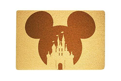 StarlingShop Felpudo de bienvenida con Mickey Mouse de Disney, felpudo de bienvenida con diseño de Mickey Mouse