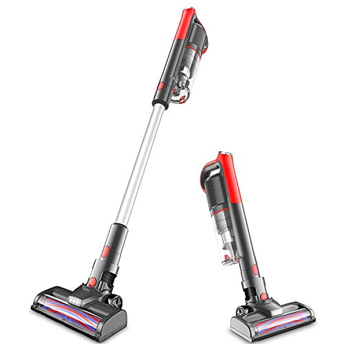 Cordless Vacuum, 14000pa Stick Vacuum 4 in 1, Motorized Brush & Ultra-Light Ideal for Whole House Cleaning GeeMo K14