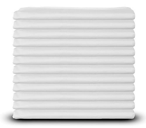 King Size White Pillowcases Bulk Pack, Polycotton, 200TC Heavy Weight Quality, Set of 12