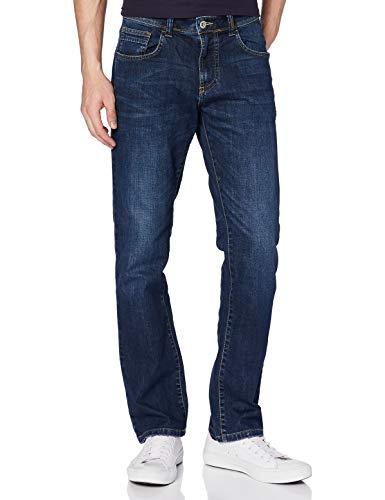 Camel Active Herren 5-POCKET WOODSTOCK Bootcut Jeans, Blau (Stone Blue 45), W36/L34 (Herstellergröße: 36/34)
