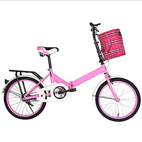 HUAQINEI Bicicleta Bicicleta de 20 Pulgadas Bicicleta Plegable para Adultos Bicicleta para Estudiantes de Primaria y Secundaria, Amarillo
