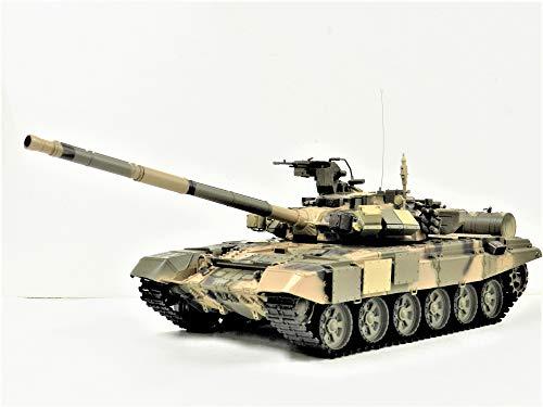 ☆最新7.0 ver☆ 1/16 戦車ラジコン ロシア連邦軍主力戦車 T-90 ☆ヘンロン 1/16 3938-1 Russian T-90 MBT ☆赤外線ユニット・BB弾発射・サウンド・発煙仕様 2.4Ghz