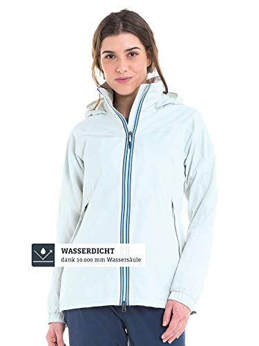 Schöffel Yokohama2 Damesjack, modieuze en waterdichte jas, comfortabele regenjas voor vrouwen, met geïntegreerde veiligheidszak