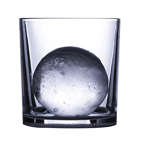 PQQ Vasos de Whisky Copas de Agua clásicas de Hockey sobre Hielo Vasos de Licor de Cristal Cócteles Cristalería Perfecta para Regalos del día del Padre Barras de Fiesta Juego de 6