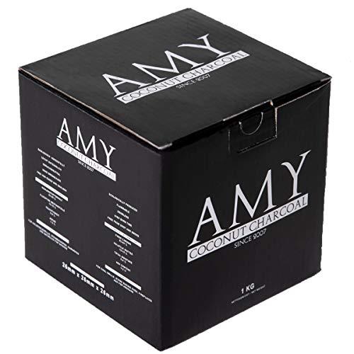 Amy Shisha Kohle C26 | 1 KG | Naturkohle für Wasserpfeife Hookah Amy Deluxe Gold