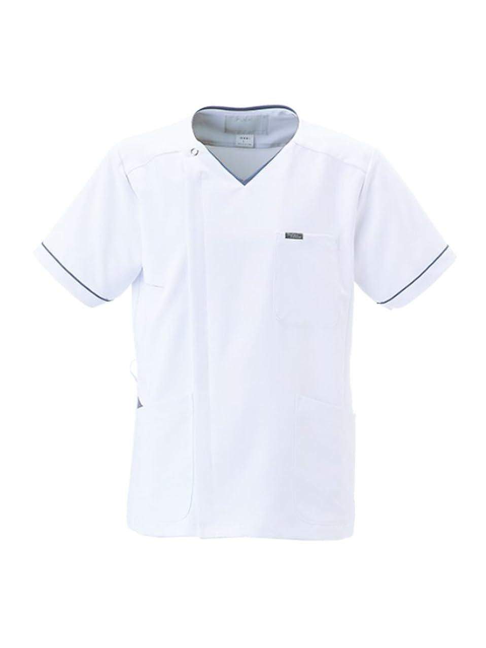 チャレンジ納屋変な(フォーク) FOLK 男子 メンズ ジップスクラブ メディカルウェア 白衣 1016EW