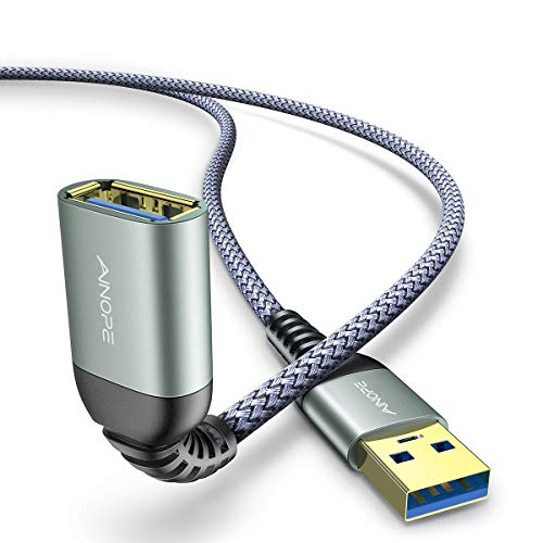 AINOPE 2 Pezzi 2M Cavo Prolunga USB 3.0 Maschio A Femmina A 5Gbps Cavo Estensione USB 3.0 Placcato Oro per Chiavetta USB, Hub USB, Disco Rigido Esterno, Mouse, Stampante, Gamepad, ecc