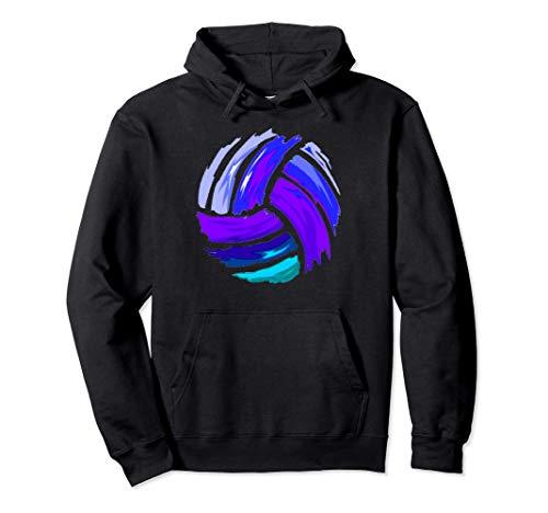 Voleibol Azul y Púrpura de regalo para las adolescentes Sudadera con Capucha