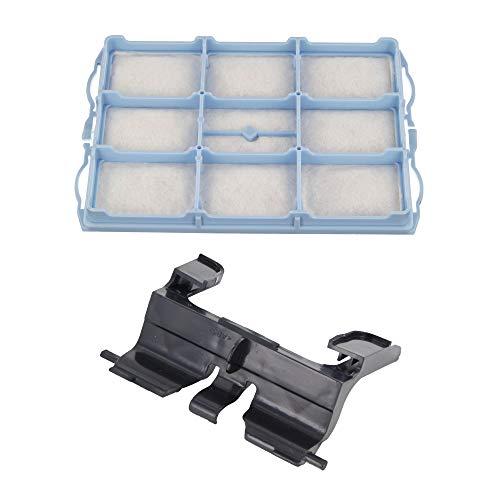 DL-pro Kit filtre moteur + support sac pour aspirateur Bosch Siemens 00578863 Filtre de protection moteur 00495701 Support pour sac d'aspirateur VZ01MSF pour aspirateur traîneau