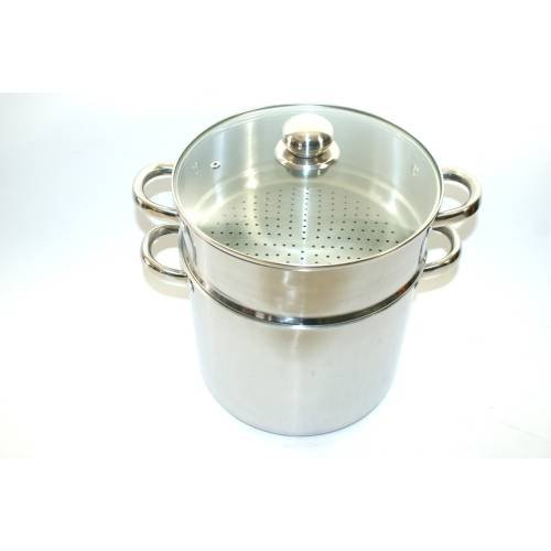 Baumalu A12-4937 2-in-1 Couscous Steamer / Stockpot Stainless Steel 26 cm / 11 L, Suitable for Induction by Baumalu
