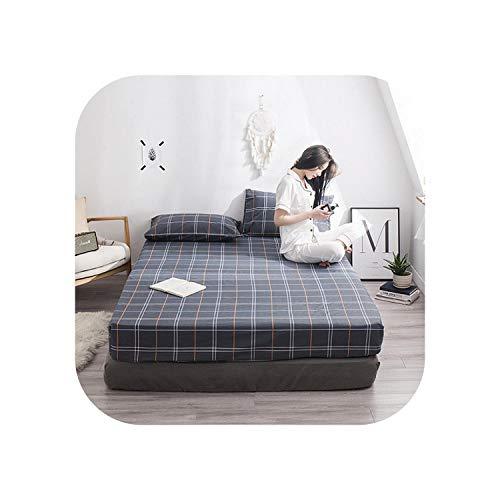 Star Harbor Luxusbettgarnituren 1 Stück Baumwolldruck Bettmatratze Set mit Vier Ecken und elastischen Bandblättern-jiejiaozhufu-150X200X25cm
