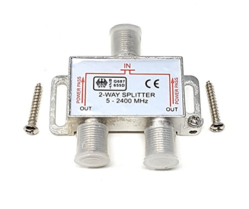 MainCore - Cable Divisor Tipo F para TV
