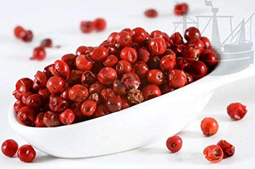 Pfeffer rot, ganz, Rosa Pfeffer/Rosa Beere, Spezialität, besonderer Eigengeschmack, 50g - Bremer Gewürzhandel