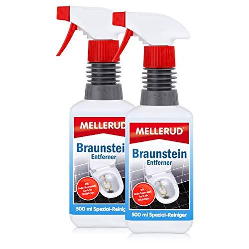 2x MELLERUD Braunstein Entferner 0,5 L Set WC-Becken Urinale Badewannen