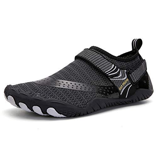 SUKDO Chaussures De Plongée pour Hommes Chaussures De Plage en Amont Chaussures De Pataugeoire Chaussures De Natation Chaussures Velcro Randonnée en Plein Air Casual Creek Water Shoes,45EU