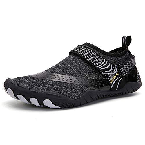 SUKDO Zapatos Casuales Jeans Anchos para Hombres, Zapatos Deportivos Unisex para Deportes Al Aire Libre, Zapatos De Natación para Buceo Zapatillas Antideslizantes De Cinco Dedos,42EU