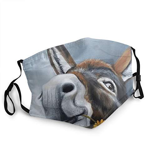 Ein Esel namens Gänseblümchen-Druck, modischer Schutz, Unisex, Polyester, staubdicht, Mundschutz, wiederverwendbar
