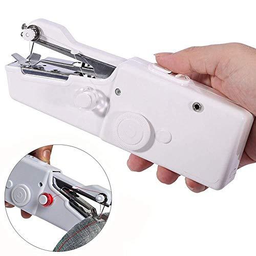 lnkey Mini Nähmaschine, Tragbare Handnähmaschine Schnellstichwerkzeug, AA Batteriebetrieben für Kleidung Stoff, Vorhang, DIY, Schal