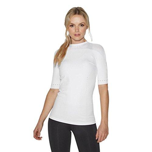 adidas Damen Warp-Knit T-Shirt, blau/Bunt, L-42/44
