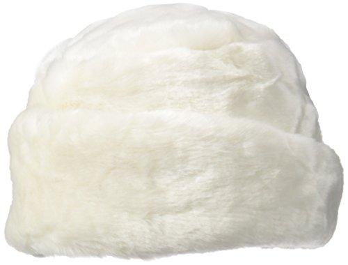 NINE WEST Women's Faux Fur Cloche Hat, Winter White, One Size