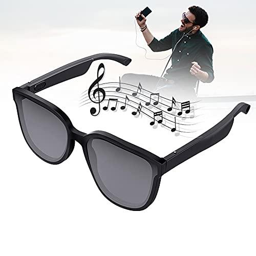 FRIBLSKEL Gafas Sol Bluetooth Inteligente Gafas Polarizadas para Hombre Mujer con Reproductor Música Y Llamada Voz Altavoz Abierto Inalambricos Auriculares para Conducir Viajar Aire Libre