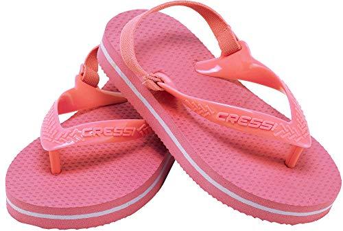 Cressi Unisex-Youth Baby Beach Flip Flops With Strap Buty plażowe i do pływania dla dzieci ,Różowy ,17/18 ,XVB9540317