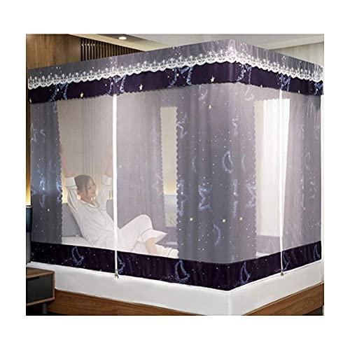 JHGF Mosquiteros para cama yurta, mosquiteros con cremallera, para el hogar, niños, a prueba de caídas, sombreado al viento y a prueba de polvo, girasol, 180 x 200 cm